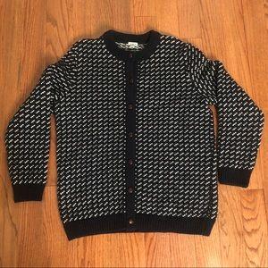 LL Bean Long Wool Cardigan Size XL